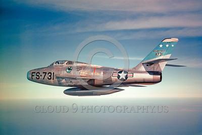 F-84F-USAF 00004 Republic F-84F Thunderstreak Official US Air Force Photograph