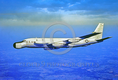 EC-135N-USAF 001 A flying, highly modified, Boeing EC-135N Stratolifter, 3-1967, official USAF photograph produced by Cloud 9 Photography, Stephen W  D  Wolf coll      DDD_4061     Dt