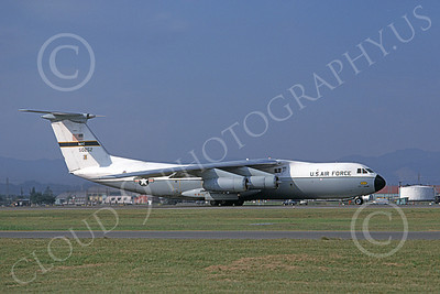 C-141AUSAF 00011 A taxing Lockheed C-141A StarLifter USAF 50252 Beale AFB 3-1977 military airplane picture by Michael Grove, Sr