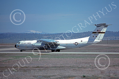 C-141AUSAF 00009 A taxing Lockheed C-141A StarLifter USAF 50247 Beale AFB 3-1977 military airplane picture by Michael Grove, Sr