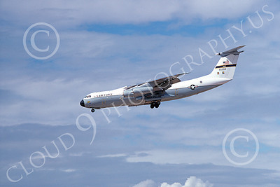 C-141AUSAF 00006 A landing Lockheed C-141A StarLifter USAF 50268 9-1977 military airplane picture by Michael Grove, Sr