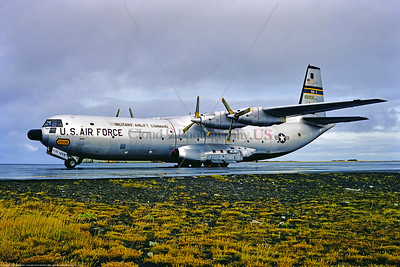 C-133 005 A static Douglas C-133A Cargomaster USAF heavylifter 62006 436 MAW MAC Keflavik 1969, military airplane picture by Scott Hamilton via Stephen W D  Wolf coll      853_8275     DoneWT