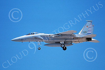 F-15USAF 00206 A landing McDonnell Douglas F-15 Eagle jet fighter USAF 76120 48th FIS TAZLANGLIAN DEVILS 6-1987 military airplane picture by Michael Grove, Sr