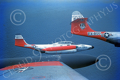 F-89USAF 00020 A flight of Northrop F-89 Scorpions USAF 57 FIS military airplane picture by Mark Martin