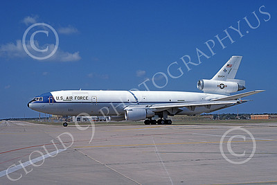 KC-10 00003 A taxing Douglas KC-10 Extender USAF 90434 10-1986 military airplane picture by Brian C Rogers