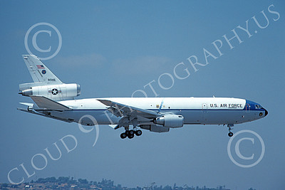 KC-10 00004 A landing Douglas KC-10 Extender USAF 91946 6-1991 military airplane picture by Michale Grove, Sr