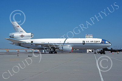 KC-10 00009 A static Douglas KC-10 Extender USAF 91951 Beale AFB 6-1983 military airplane picture by Michale Grove, Sr