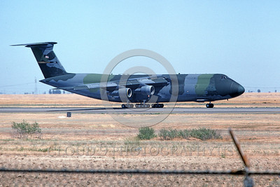 C-5USAF 0025 A taxing lizard color scheme Lockheed C-5 Galaxy USAF 70042 Travis AFB 7-1994 military airplane picture by Carl E Porter