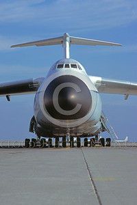C-5USAF 0007 A static Lockheed C-5 Galaxy USAF heavy lift cargo jet Travis AFB 1980 military airplane picture by Peter J Mancus