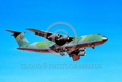 C-5USAF 0024 A landing Lockheed C-5 Galaxy USAF 80211 heavy lift cargo jet lizard scheme military airplane picture by Peter J Mancus
