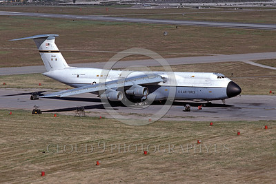 C-5USAF 0003 A static Lockheed C-5 Galaxy USAF 00461 heavy lift cargo jet Norton AFB 4-1980 military airplane picture by Peter J Mancus