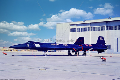 YF-12 001 A static Lockheed YF-12 Blackbird, USAF strategic supersonic high altitude jet fighter, 06936 5-1969 Edwards AFB, military airplane picture by Stephen W  D  Wolf   853_3967  Dt