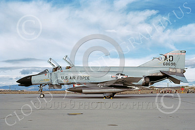 F-4USAF 00059 A static McDonnell Douglas F-4D Phantom II USAF 68698 AD code 11-1983 military airplane picture by Michael Grove, Sr