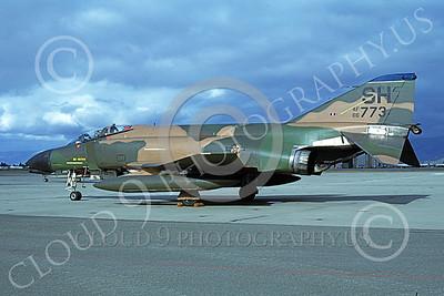 F-4USAF 00119 A static McDonnell Douglas F-4D Phantom II USAF 66773 SH code NAS Moffett 10-1981 military airplane picture by Michael Grove, Sr