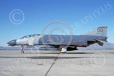F-4USAF 00317 McDonnell Douglas F-4D Phantom II AFRES 67650 DO Luke AFB Nov1986 military airplane picture by Michael Grove, Sr