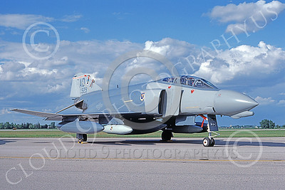 F-4USAF 00097 A static McDonnell Douglas F-4D Phantom II USAF 64929 3246th Test Wing AD code Eglin AFB 6-1988 military airplane picture by Michael Grove, Sr