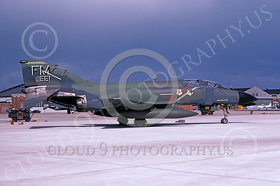 F-4USAF 00045 McDonnell Douglas F-4D Phantom II AFRES 6651 FM Oct 1984 military airplane picture by R  Kowalczyk