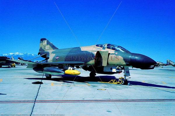 F-4D-USAF-559TFS 001 A static cam McDonnell Douglas F-4D Phantom II USAF jet fighter 40822 559TFS 12TFW XN tail code Hill AFB 3-1967 military airplane picture by Michael Grove, Sr     Dwt