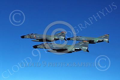 F-4USAF 00012 McDonnell Douglas F-4D Phantom II AFRES 663660 DO 16 Nov 1984 MiG KILLER two kills military airplane picture by Bert Kinzey