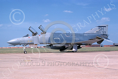 F-4USAF 00177 A static McDonnell Douglas F-4D Phantom II AFRES 465th TFS SH code 9-1988 military airplane picture by Don Spering