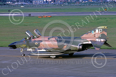 F-4USAF 00429 A taxing McDonnell Douglas F-4D Phantom II USAF 66618 8th FW WP code Yokota AB 5-1975 military airplane picture by Peter Hamm