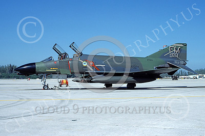 F-4USAF 00285 McDonnell Douglas F-4D Phantom II AFRES 6651 FM 9 March 1984 military airplane picture by Ray R Leader