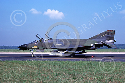 F-4USAF 00143 McDonnell Douglas F-4D Phantom II AFRES 66506 with missile DO Oct 1986 military airplane picture by Michael Grove, Sr