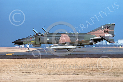 F-4USAF 00329 A taxing McDonnell Douglas F-4D Phantom II USAF 66802 8th FW WP code Yokota AB 12-1980 military airplane picture by Ted Cruz