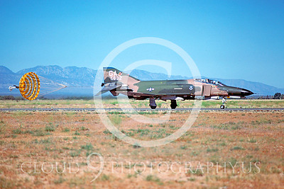 CHUTE 00064 McDonnell Douglas F-4E Phantom II USAF July 1979 by Peter J Mancus