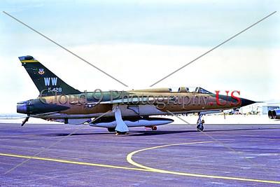 F-105F-USAF-37th TFW 001 A static cam Republic F-105F Thunderchief USAF 62428 37th TFW Century Series Vietnam War vet fighter-bomber WW tail code Nellis AFB 3-1973 by Stephen W  D  Wolf     B_3625     DWT