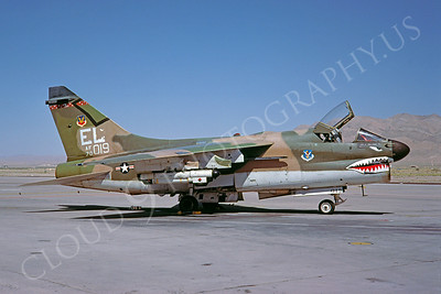 SM 00019 Vought A-7D Corsair II USAF 70019 Nellis AFB July 1979 by Douglas Olson