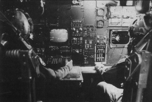The EW Officer (Electronic Weapons) in the left seat and the Gunner in the right seat are situated in a room a short distance behind the pilots on the upper level. Their seats eject upwards.<br /> <br /> I would assume that the aircraft was rolling and in an inverted decent when Sgt. Felix ejected thus causing the reported fatal head injuries.<br /> <br /> This photo is of an early B-52 navigation position and is used to illustrate how the EW/Gunner crew was situated. Photos of the EW/Gunner position are currently classified by the U.S. Government.