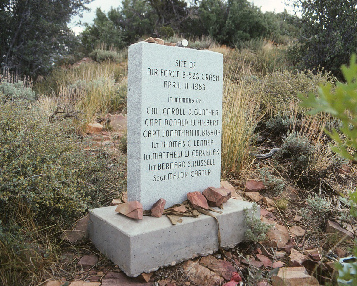 This memorial is located at the summit of 7,050 foot Square Top Mountain.