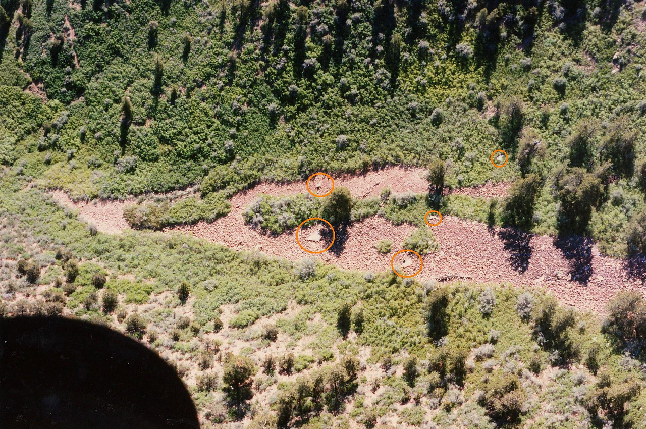 Many of the larger aircraft fragments were projected over the mountain and were located on the mountain's north face.