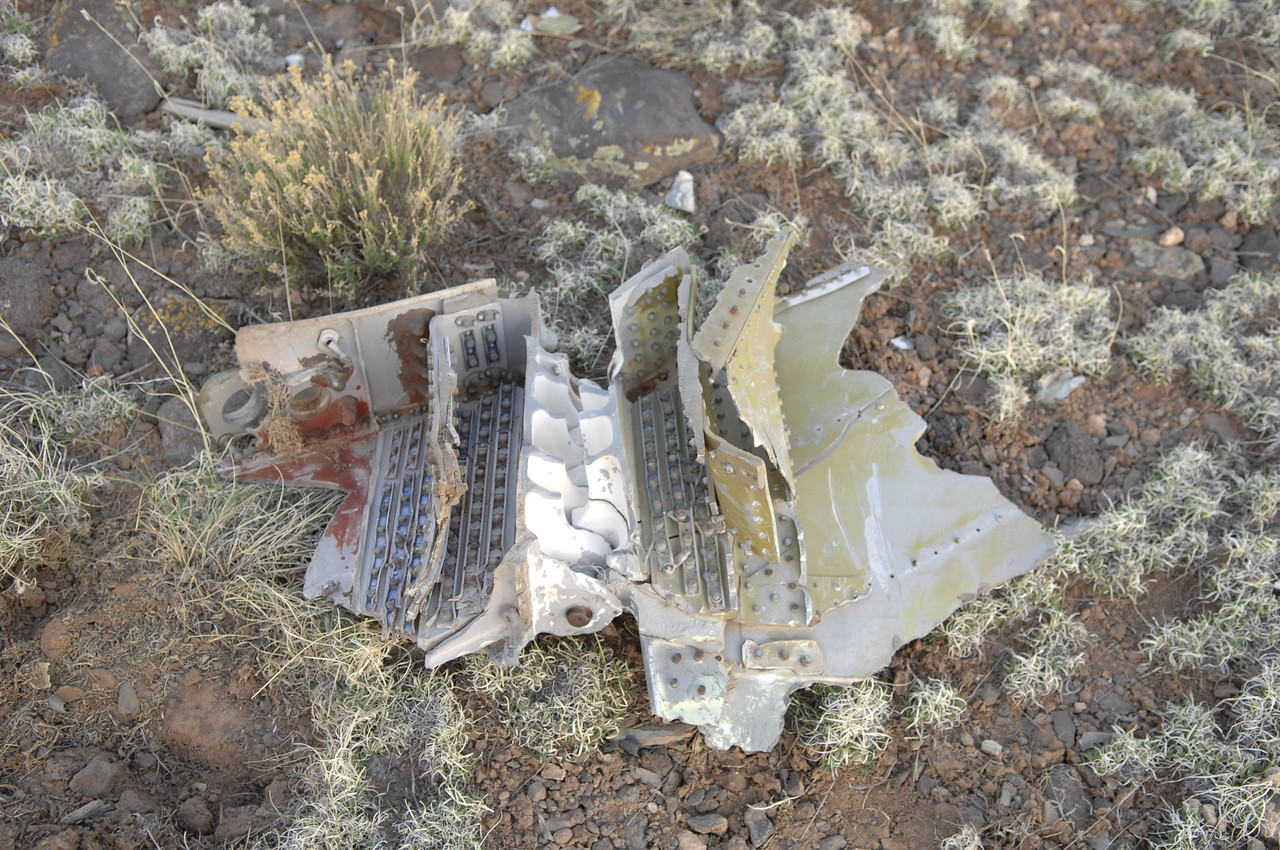 The reverse side of the hinged wing fragment. (2008 LostFlights)