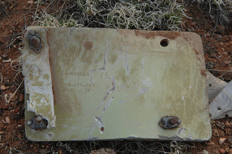 "This panel not only contained a part number that verified the aircraft model but also the serial number of the aircraft as ""510"". (2008 LostFlights)"