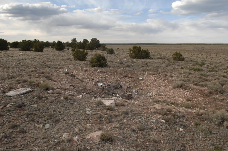 The impact crater looking to the north. (2008 LostFlights)