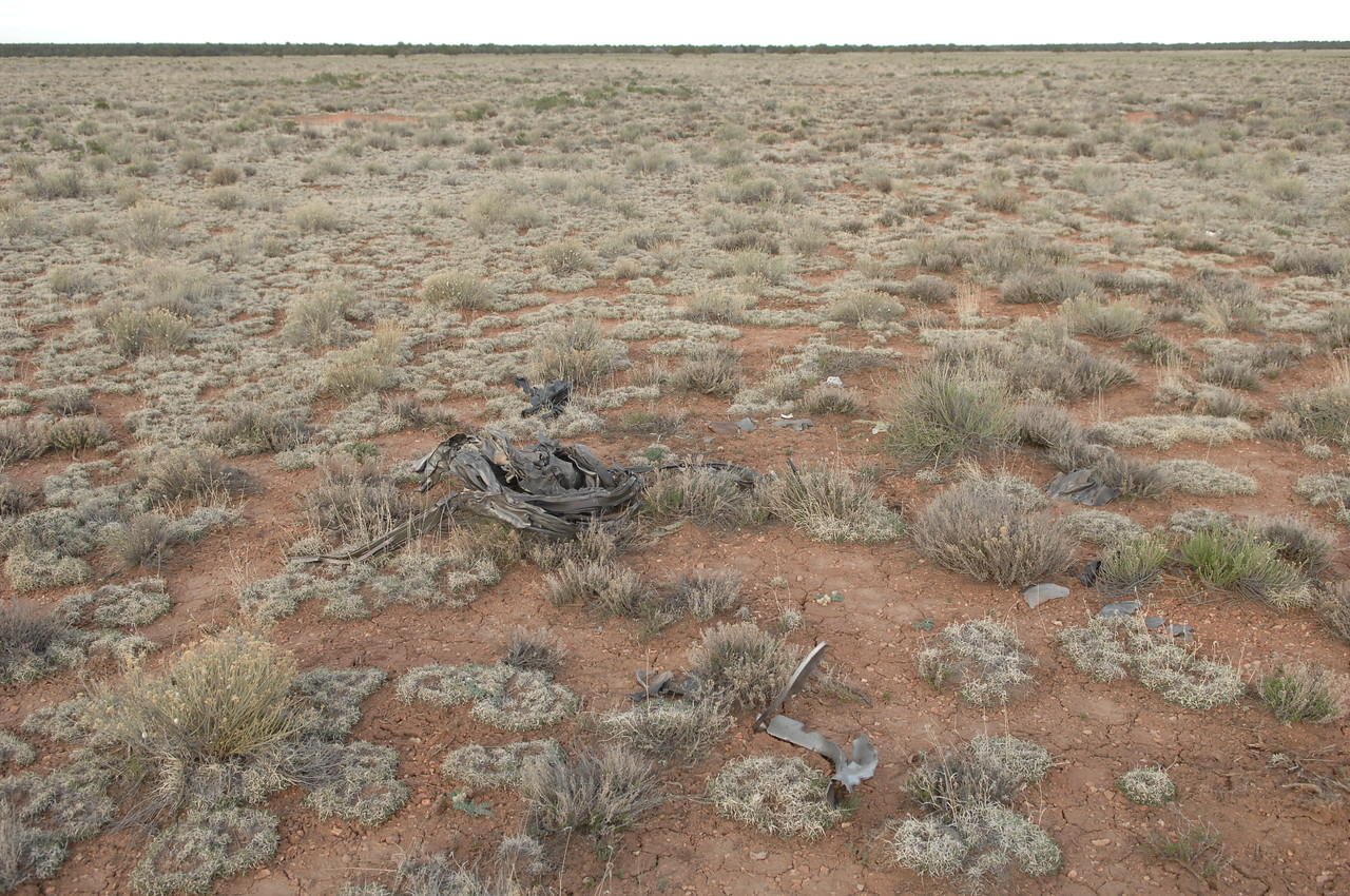 An engine casing and other fragments were scattered further into this field. (2008 LostFlights)