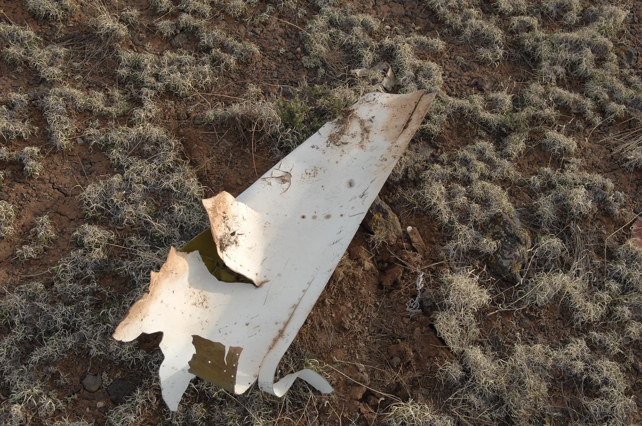 Trailing edge portion of the three foot flight control fragment. Possibly rudder? (2008 LostFlights)