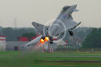 AB - Typ 00086 Eurofiighter Typhoon Italian Air Force afterburner aircraft picture by Stephen W D Wolf