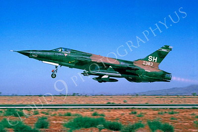 ABF105 00003 Republic F-105 Thunderchief SH tail code at George AFB by Peter J Mancus
