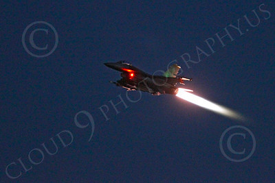 AB - F-16USAF 00206 Lockheed Martin F-16 Fighting Falcon USAF in afterburner at night by Peter J Mancus