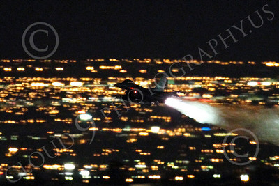 AB - F-16USAF 00204 Lockheed Martin F-16 Fighting Falcon USAF in afterburner at night by Peter J Mancus
