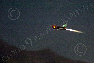 WWAN 00095 A flying Lockheed Martin F-16 Fighting Falcon USAF jet fighter in afterburner at night military airplane picture by Peter J Mancus