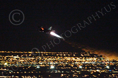 AB - F-16USAF 00222 Lockheed Martin F-16 Fighting Falcon USAF in afterburner at night by Peter J Mancus