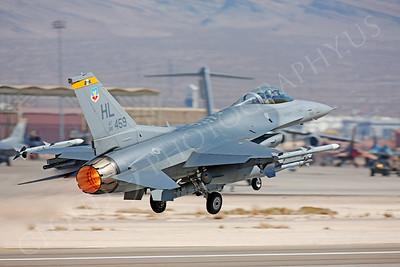 AB-F-16USAF 00058 Lockheed Martin F-16 USAF 88459 Nellis AFB by Peter J Mancus