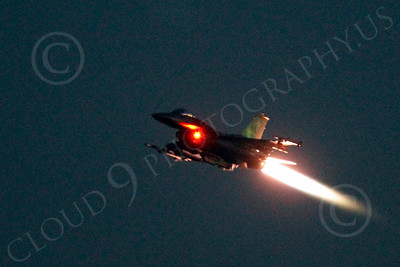 AB - F-16USAF 00178 Lockheed Martin F-16 Fighting Falcon USAF in afterburner at night by Peter J Mancus