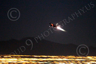 AB - F-16USAF 00212 Lockheed Martin F-16 Fighting Falcon USAF in afterburner at night by Peter J Mancus