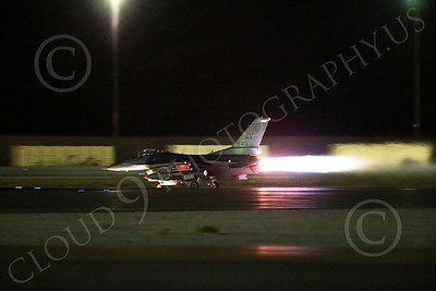 AB-F-16USAF 00031 An AV tail code USAF Lockheed F-16 Viper jet fighter in full afterburner at night at Nellis AFB 7-2014 military airplane picture by Peter J Mancus