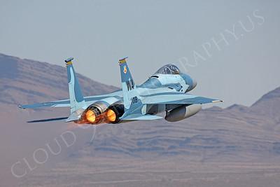 AB-F-15 USAF 00210 McDonnell Douglas F-15 Eagle USAF 80018 Aggressor by Peter J Mancus
